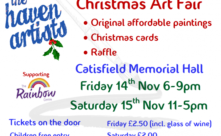 The Haven Artists Christmas Art Fair.